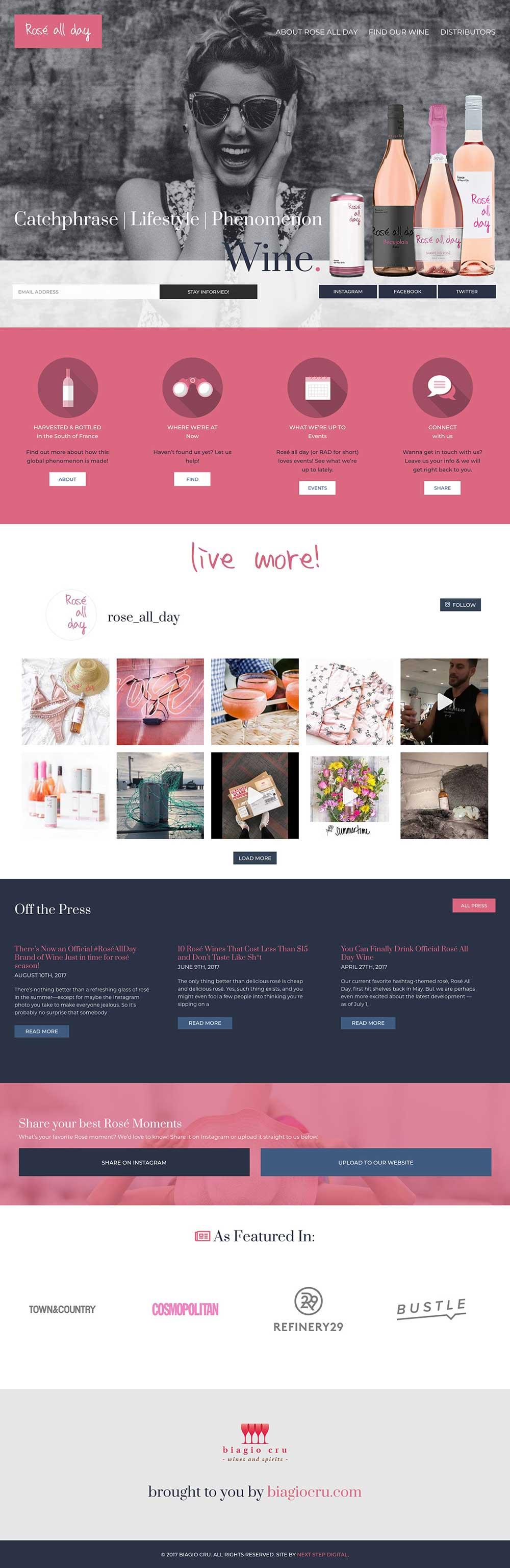 Rose All Day Hompage Desktop