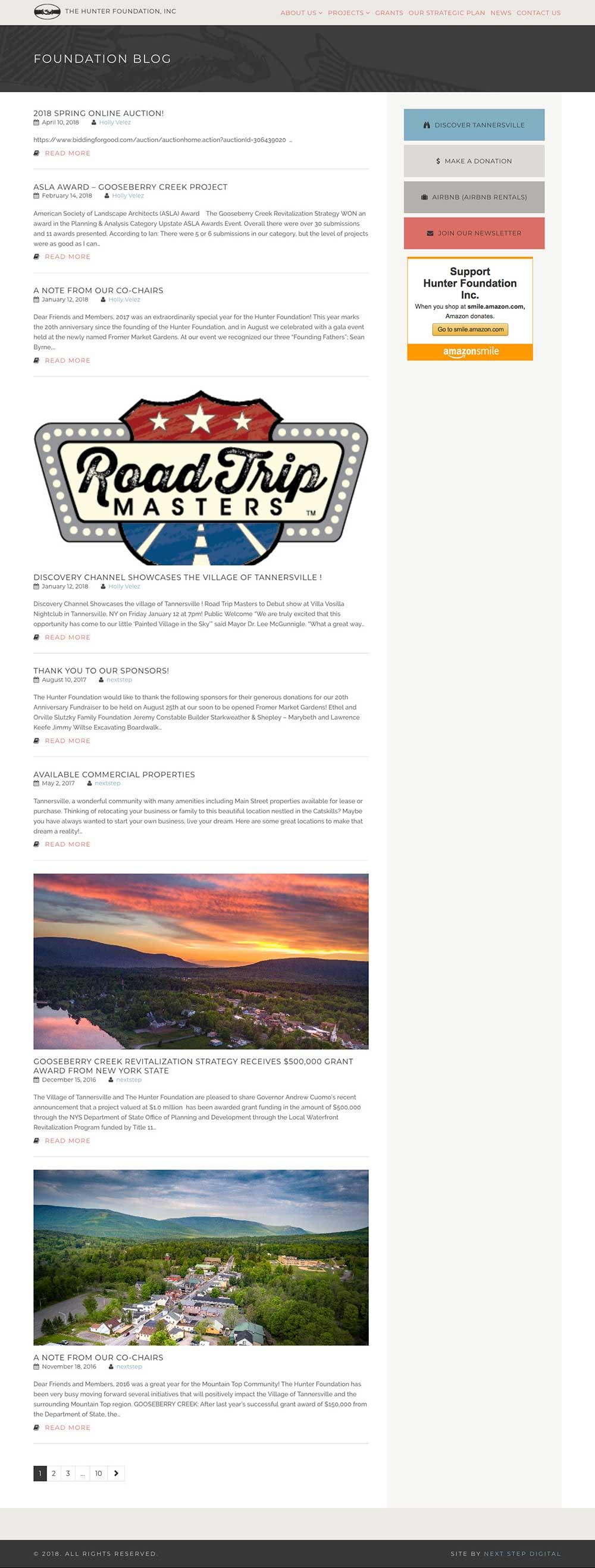 Hunter Foundation Blog Page Desktop