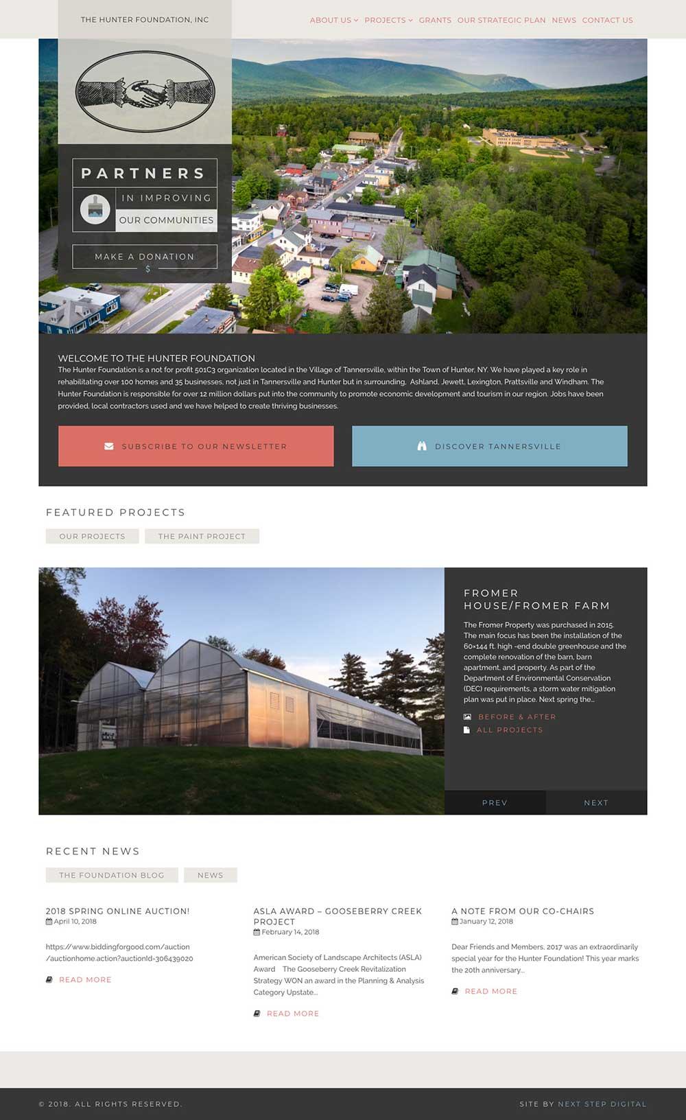 Hunter Foundation Homepage Desktop