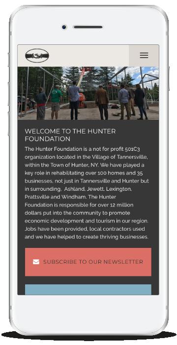 Hunter Foundation Homepage Mobile