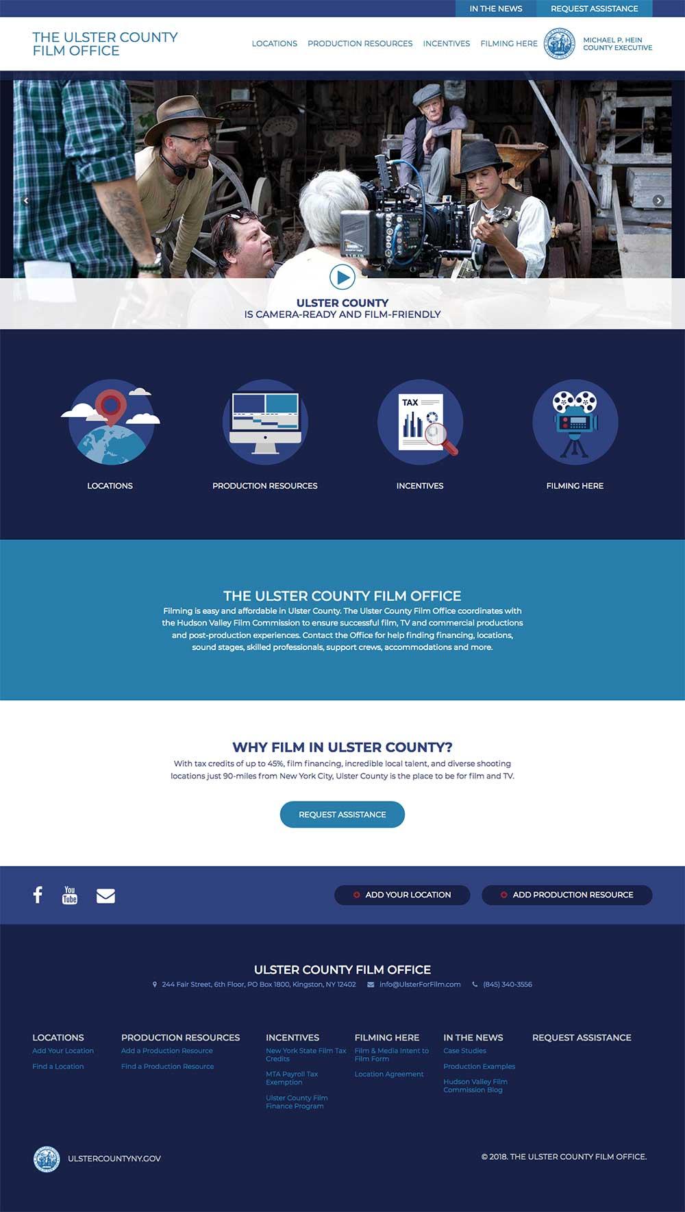 Ulster Film Homepage Desktop